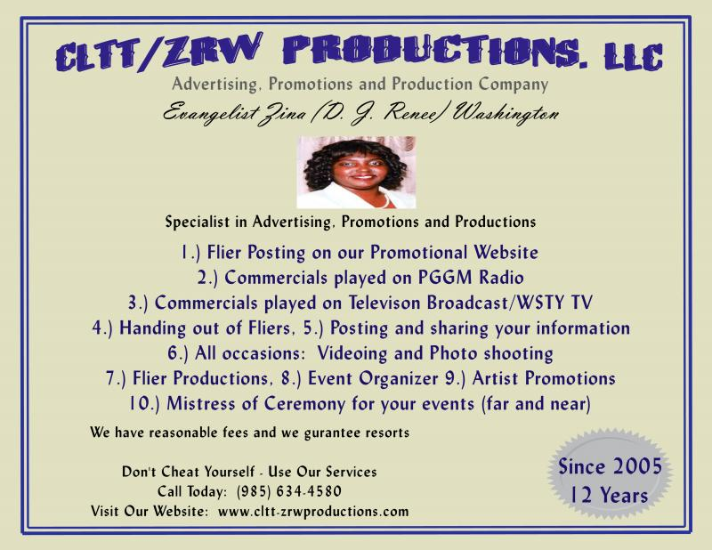 CLTT-ZRW Production Flier